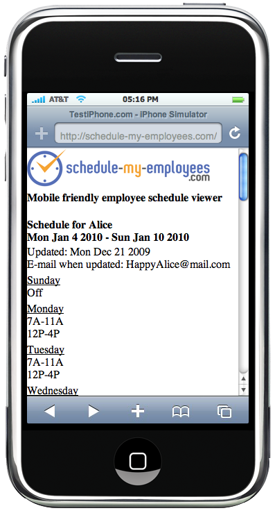 schedulemyemployees.com Feature List