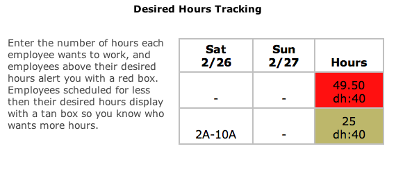 Employee Desired Hours Tracking - 9